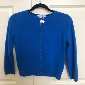 Blue cashmere cardigan from Boden